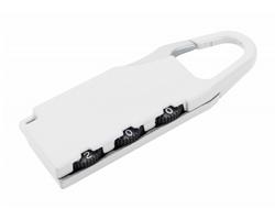 Kovový zámek na zavazadlo ZANEX - bílá