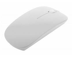 Plastová bezdrátová optická myš LYSTER - bílá / bílá