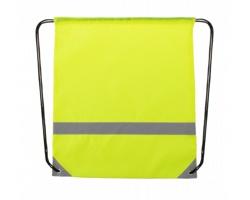 Polyesterový šňůrkový batoh LEMAP s reflexními částmi - žlutá