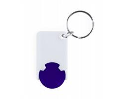 Plastový přívěsek na klíče ZABAX s žetonem do vozíků - modrá