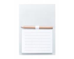 Blok s lístky na poznámky YAKARI s magnetem - bílá