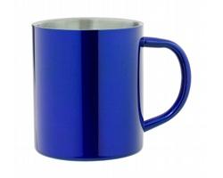 Kovový termohrnek YOZAX, 300 ml - modrá / stříbrná