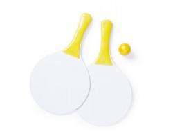 Sada na plážový tenis CUPSOL - žlutá