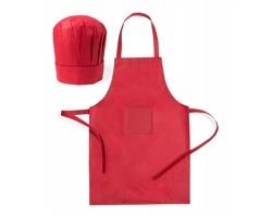Dětský kuchařský set LEGOX s čepicí a zástěrou - červená