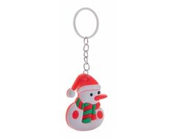 Plastový vánoční přívěsek na klíče TRIDUX - bílá