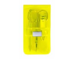 Sada manikúry SILTON v plastovém pouzdru, 3 ks - žlutá