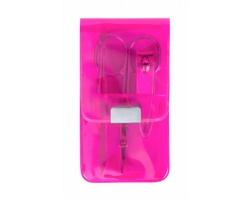 Sada manikúry SILTON v plastovém pouzdru, 3 ks - růžová