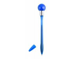 Plastové kuličkové pero NICKY se svítícím vrškem - modrá