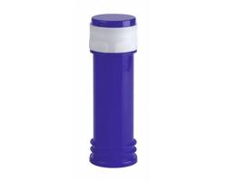 Plastová lahvička na bublifuk BUJASS s hrou ve víčku, 60 ml - modrá