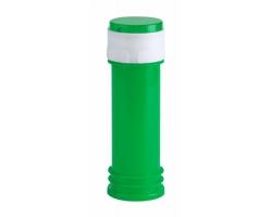 Plastová lahvička na bublifuk BUJASS s hrou ve víčku, 60 ml - zelená