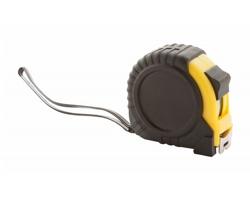 Plastový svinovací metr GRADE 5M - černá / žlutá