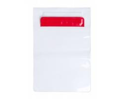Plastový voděodolný obal na tablet KIROT - červená / transparentní