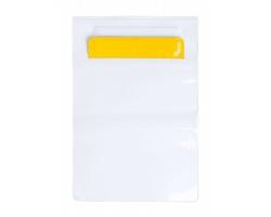 Plastový voděodolný obal na tablet KIROT - žlutá / transparentní