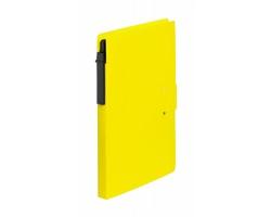 Nelinkovaný poznámkový blok PRENT s kuličkovým perem - žlutá