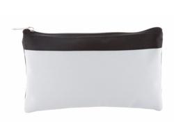 Polyesterové pouzdro na psací potřeby NAYXO - bílá / černá