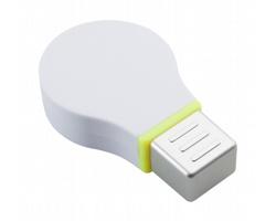 Plastový zvýrazňovač NADOL ve tvaru žárovky - bílá