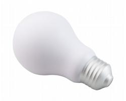 Antistresová pomůcka KIDEA ve tvaru žárovky - bílá