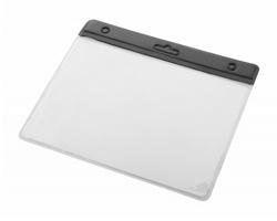 Plastová průhledná visačka ALTER - černá / transparentní