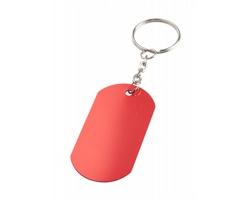 Kovový přívěsek na klíče NEVEK - červená