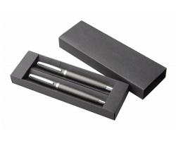 Sada kovových psacích potřeb LUMIX v dárkové krabičce - tmavě šedá