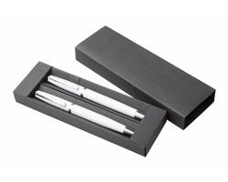 Sada kovových psacích potřeb LUMIX v dárkové krabičce - bílá