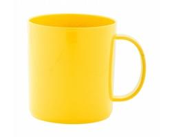 Plastový hrnek WITAR, 350 ml - žlutá