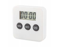 Plastová kuchyňská minutka BULLI s magnety - bílá