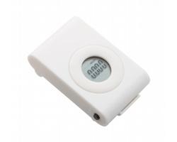 Plastový krokoměr NEIVA s digitálním displejem - bílá