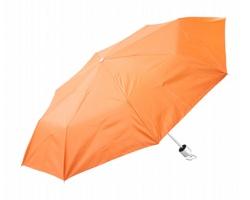 Skládací manuální deštník SUSAN - oranžová / stříbrná