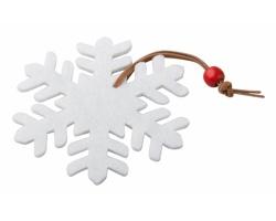 Plstěná vánoční ozdoba FANTASY - bílá