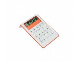 Plastová kalkulačka MYD - oranžová / bílá