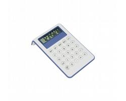 Plastová kalkulačka MYD - modrá / bílá
