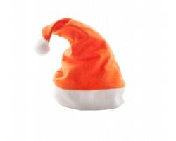 Vánoční čepice s bambulí PAPA NOEL - oranžová
