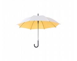 Automatický deštník CARDIN s barevným vnitřkem - žlutá / stříbrná