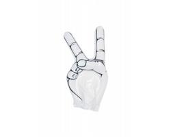 Nafukovací fandící pomůcka HOGAN ve tvaru ruky - bílá
