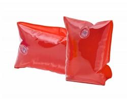 Dětské plastové nafukovací rukávky SANVI - transparentní červená