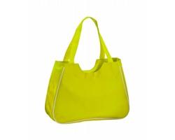 Polyesterová plážová taška MAXI s kosmetickou taštičkou - pistáciová