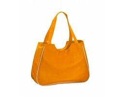 Polyesterová plážová taška MAXI s kosmetickou taštičkou - oranžová