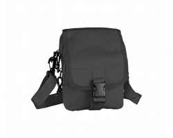 Malá taška PILUTO s nastavitelným popruhem - černá