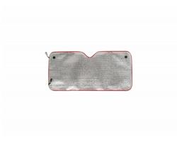 Sluneční clona na přední sklo TORMO - stříbrná / červená