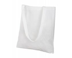 Látková nákupní taška FAIR z netkané textilie - bílá