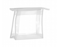Plastová kosmetická taška AQUARIUM se zipem - bílá