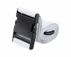 Polyesterový popruh na zavazadla RIPLEY s plastovou sponou - bílá