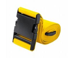 Polyesterový popruh na zavazadla RIPLEY s plastovou sponou - žlutá