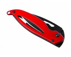 Kovový zavírací kapesní nůž THIAM - červená