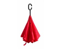 Manuální deštník HAMFREK s obrácenou konstrukcí - červená