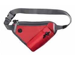 Polyesterová ledvinka TILDAK s kapsou na lahev - červená