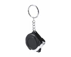 Plastový svinovací metr HARROL 1M s kroužkem na klíče - černá