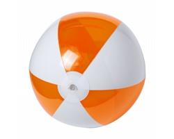 Nafukovací plážový míč ZEUSTY, průměr 28 cm - oranžová / bílá