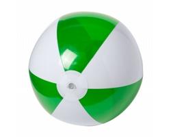 Nafukovací plážový míč ZEUSTY, průměr 28 cm - zelená / bílá